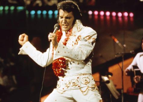 Elvis singing