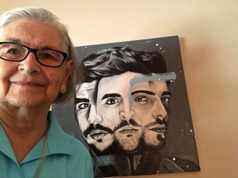 RoseMarie with IL VOL Painting