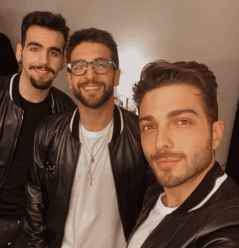 Left to right: Ignazio, Piero and Gianluca in leather jackets