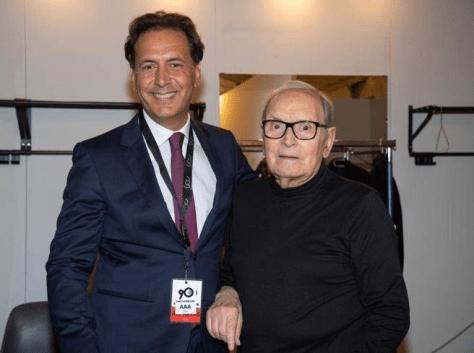 Ennio Morricone and son, Andrea