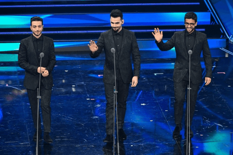 Left to right: Gianluca, Ignazio and Piero on stage