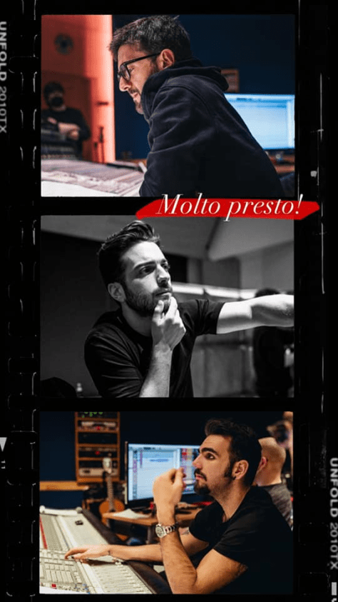 Piero, Gianluca and Ignazio in the recording studio