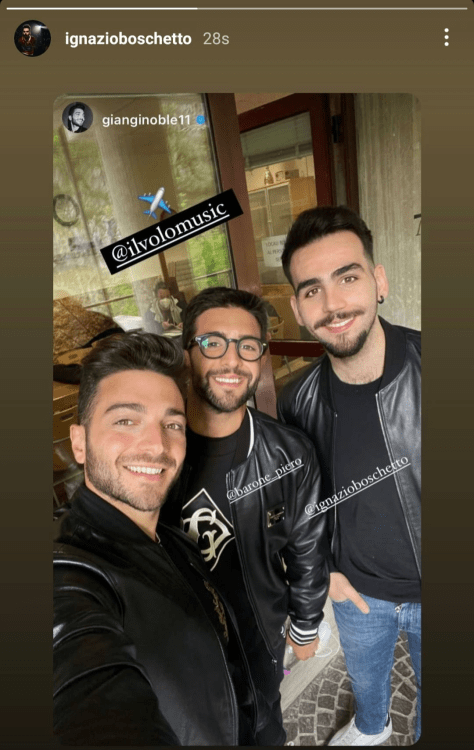 Left to right: Gianluca, Piero and Ignazio at the Rome airport