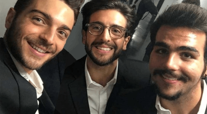Left to right: A smiling Gianluca, Piero and Ignazio