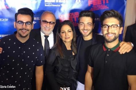 Left to right: Ignazio with Emilio and Gloria Estefan, Gianluca and Piero
