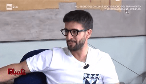 Closeup of Piero during the interview