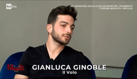 Closeup of Gianluca during the interview