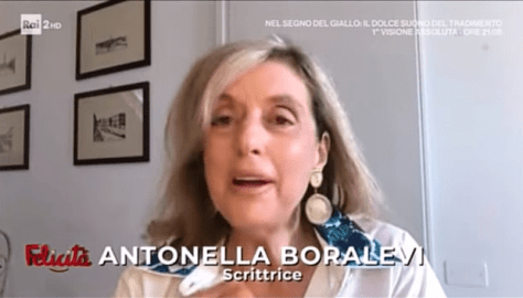 Closeup of Antonella Boralevi