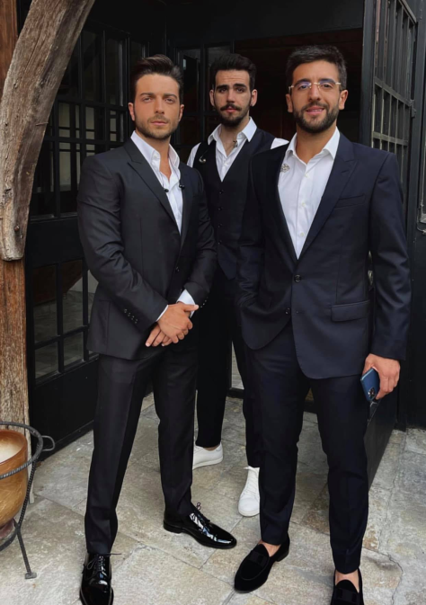 Left to right: Gianluca, Ignazio and Piero in sport coats and ready for their concert