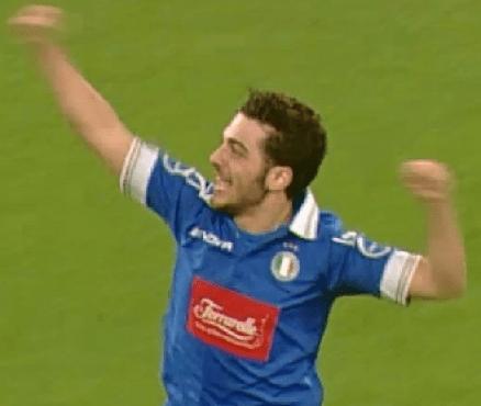 Gianluca celebrating on the soccer field