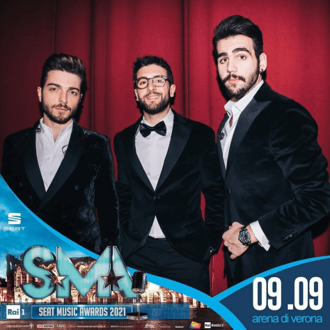 IL VOLO in an ad for the SMA - Seat Music Awards