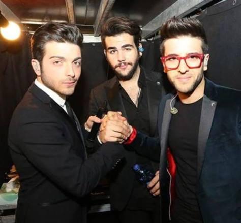 IL VOLO handshake before the concert