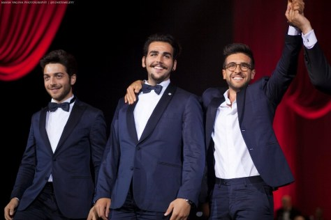 Left to right: Gianluca, Ignazio and Piero on stage smiling