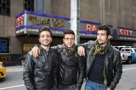 Gianluca, Piero and Ignazio in front of Radio City Music Hall
