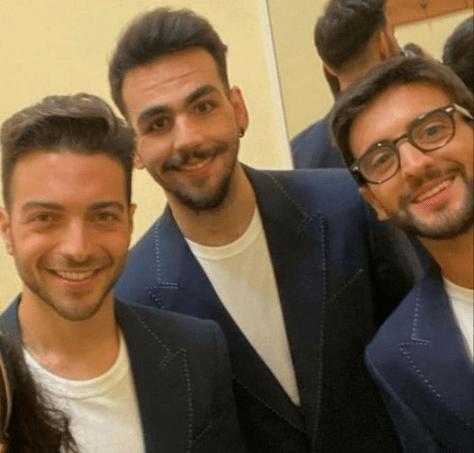 Gianluca, Ignazio and Piero backstage