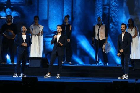 Left to right: Piero, Gianluca and Ignazio on stage