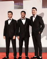 Left to right: Gianluca, Piero and Ignazio in Dolce & Gabbana tuxedos