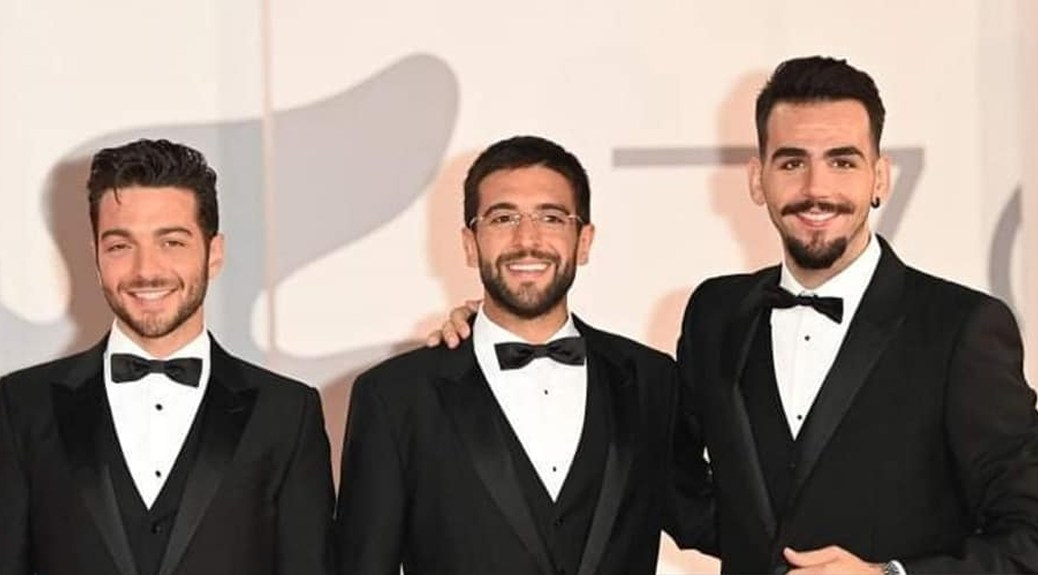 Left to right: Gianluca, Piero and Ignazio on the red carpet