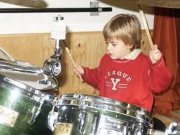 Very young Nico at the drums