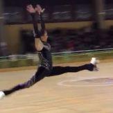 Giada doing a jump while skating