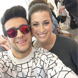 @piero_barone Twitter; with Ann Sophie Eurovision - 2015