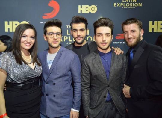 @VegasScene1 Il Volo attends the screening of the Latin Explosion - Latin Grammys 2015