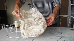 Tekstil lamper arbejdsproces