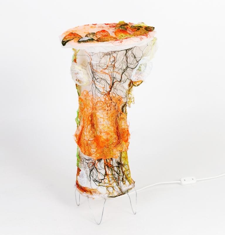 Tekstil lampe sæt i frit maskinbroderi