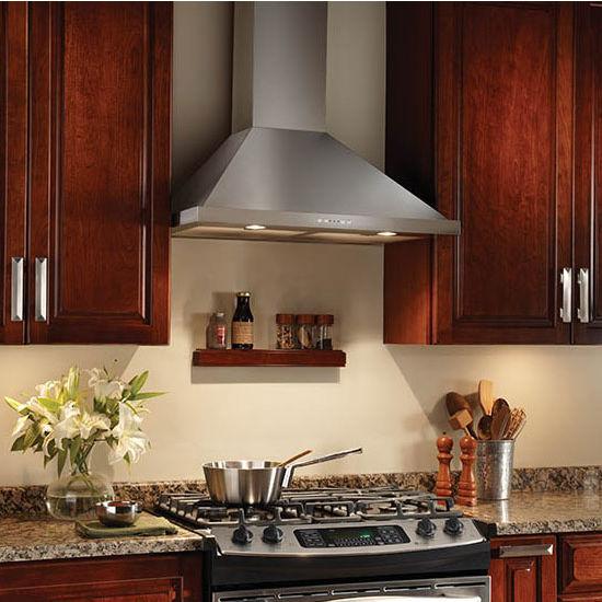 in a kitchen range hoods chimney Range Hoods - Broan Elite EW58 Series Wall Mount Chimney Range Hood | KitchenSource.com