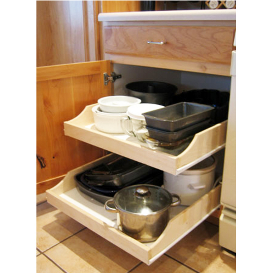 """Rolling Shelves ''Express"""" Pre Assembled Cabinet Pull Out Shelves"""