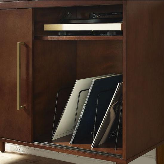 Crosley Furniture Everett Media Console With Record Storage In Mahogany Finish 18W X 34 14