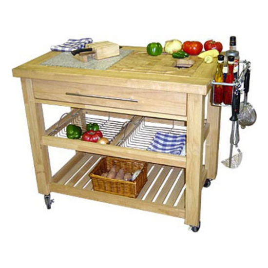 kitchen prep station best cabinet manufacturers pro chef 40 1 2 w food in natural espresso or white by chris kitchensource com
