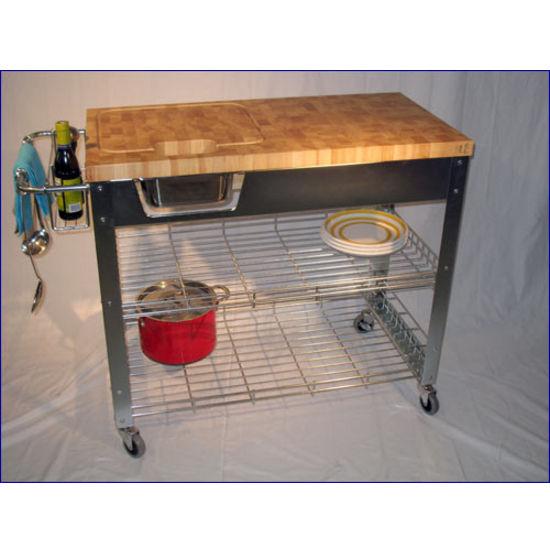 kitchen work station visualization tool chris stadium workstation cart end grain top view larger image island
