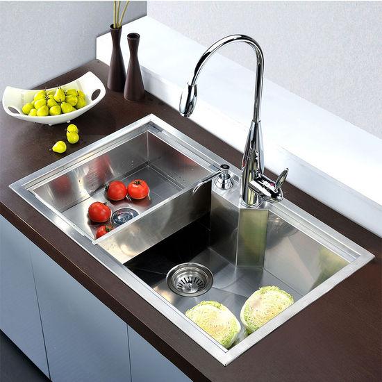 single sink kitchen restaurant setup cost dawn sinks undermount square bowl 18 gauge satin 30 3