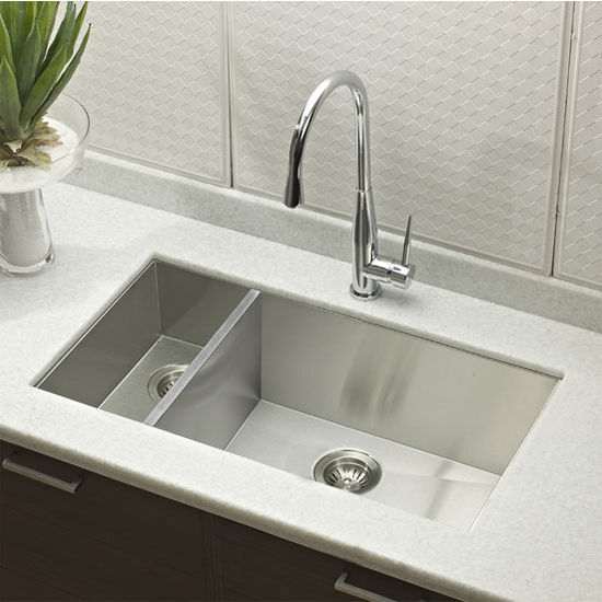 30 kitchen sink 36 inch round table sinks contempo stainless steel zero radius 70 double view larger image