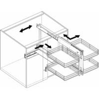 Slide Out Base Blind Kitchen Corner Cabinet Unit by Knape ...