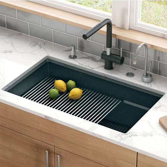 large kitchen sinks outdoor design ideas peak single bowl undermount sink made of granite measuring 32 w x 18 3 4 d by franke kitchensource com