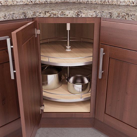 kitchen base cabinets unfinished beadboard island lazy susans - lazy-susan corner & wall cabinet set w ...