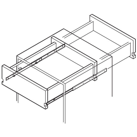 Accuride 3/4 Extension Side Mounted Drawer Slide with Two