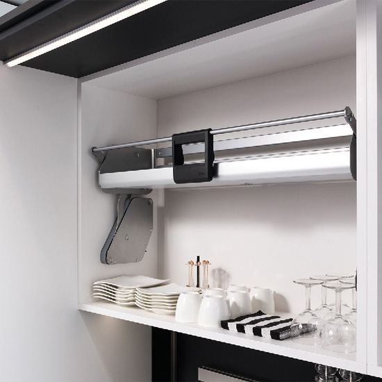 iMOVE Pull Down Unit by Hafele Single Shelf For 21  36