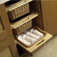 """Hafele Pull-Out Wicker Baskets For 15'' or 18"""" Framed or ..."""