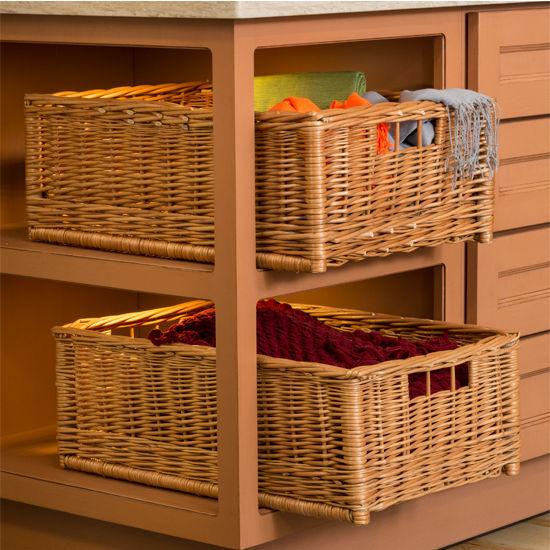 Free Standing Wicker Storage Baskets From Hafele