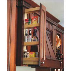 Kitchen Cabinet Spice Rack Updated Kitchens Organizers - Maple Upper Wall ...