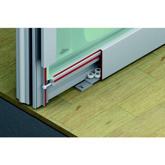 Sliding Door Hardware Hafele Divido 100 GR Fitting Set Top Hung Amp Bottom Rolling System