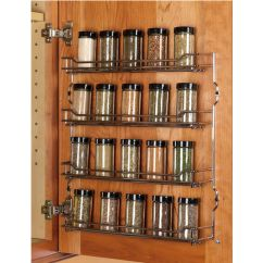 Kitchen Spice Rack Flooring Steel Wire Door Mount Racks In Chrome And Champagne From Hafele Kitchensource Com
