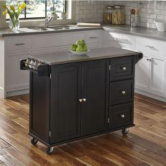 Unfinished Base Kitchen Cabinets Nice Knives Liberty Wood Top Mobile Cart W/ Or Stainless ...