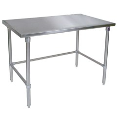 Steel Kitchen Table Appliances Pay Monthly Metal Work John Boos 16 Gauge Tables W Stainless Bracing Legs Flat Top Kitchensource Com