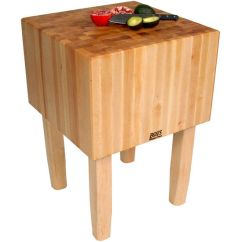 John Boos Kitchen Islands Heat Lamps ''aa'' Butcher Block Work Table With 16'' Thick ...