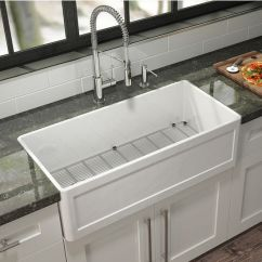 Unfinished Kitchen Wall Cabinets Grills For Outdoor Kitchens Fira Collection Single Undermount Fireclay Sink W ...