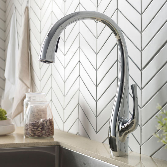 pull down kitchen faucet dual function